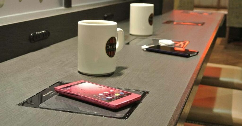 Wireless power in a cafe